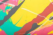 pic of acrylic painting  - Fragment abstract modern painting background with expressive splashes of paint - JPG