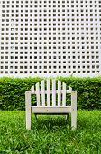 pic of lawn chair  - Chairs on the lawn in the garden - JPG