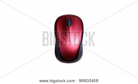 Wireless Mouse On Wooden Table