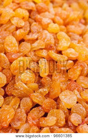 Tasty Golden Dried Raisins Heap