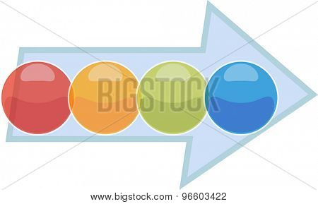 blank business strategy concept infographic process arrow diagram illustration four 4 steps