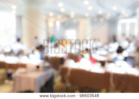 Abstract blur Business Conference and Presentation