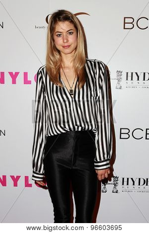 LOS ANGELES - MAY 7:  Hannah Kat Jones at the NYLON Magazine Young Hollywood Issue Party  at the HYDE Sunset on May 7, 2015 in West Hollywood, CA