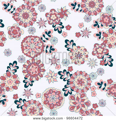 beauty seamless floral pattern. retro vector floral background