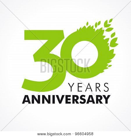 30 anniversary leaves logo