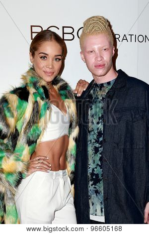 LOS ANGELES - MAY 7:  Jasmine Sanders, Shaun Ross at the NYLON Magazine Young Hollywood Issue Party  at the HYDE Sunset on May 7, 2015 in West Hollywood, CA