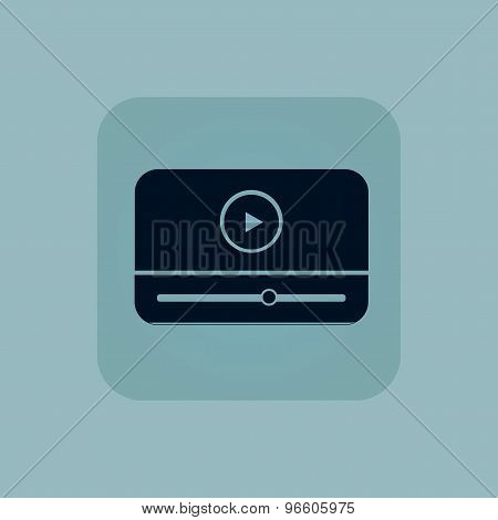 Pale blue mediaplayer icon