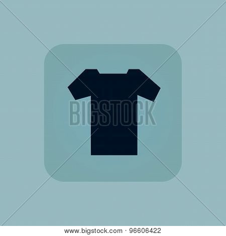 Pale blue T-shirt icon