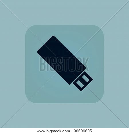 Pale blue USB stick icon