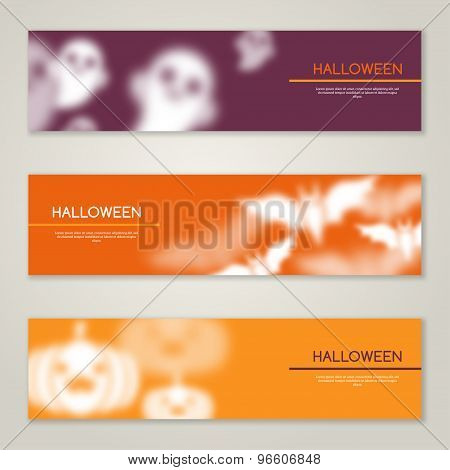 Halloween Horizontal Banners or Flyers.