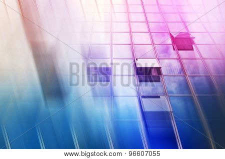 Moden Office Building Abstract As Blur Business Background