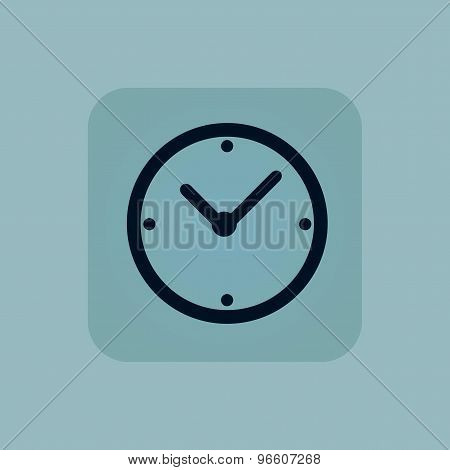 Pale blue clock icon