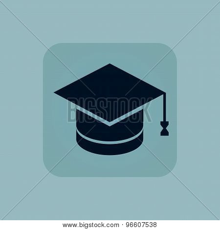 Pale blue graduation icon
