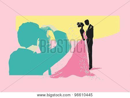 Vector Illustration Of Wedding Shooting