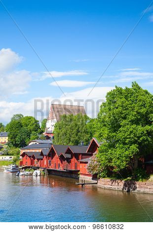 Porvoo. Small Historical Town In Finland