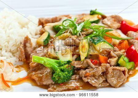 Stewed Meat With Vegetables .  Korean Cuisine.