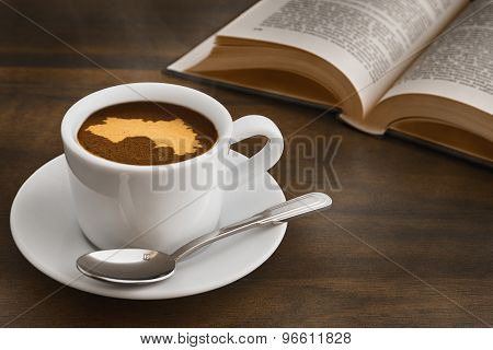 Still Life - Coffee With Map Of Guinea