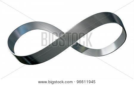 Infinity Symbol Metal Ribbon