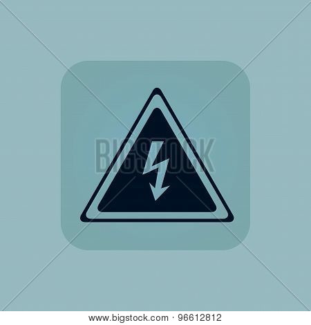 Pale blue high voltage icon