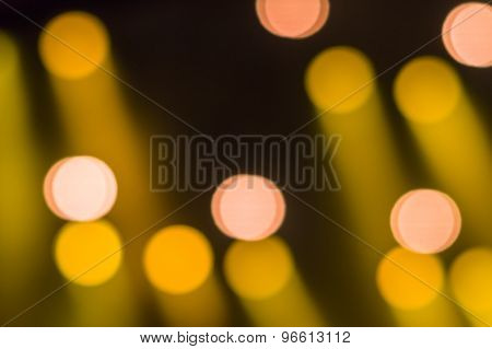 Abstract Circular Bokeh Vintage Lights Background