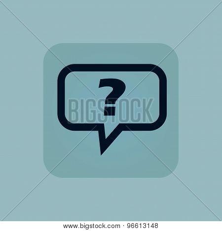 Pale blue question icon