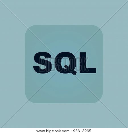 Pale blue SQL icon