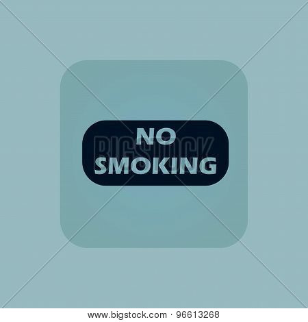 Pale blue NO SMOKING icon