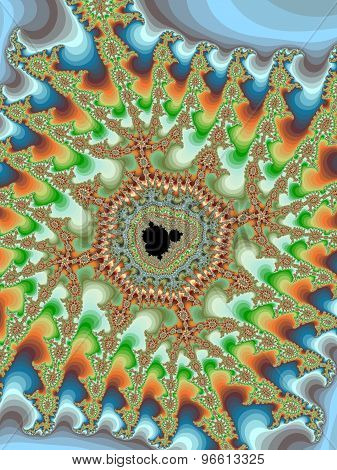 Decorative fractal Mandelbrot