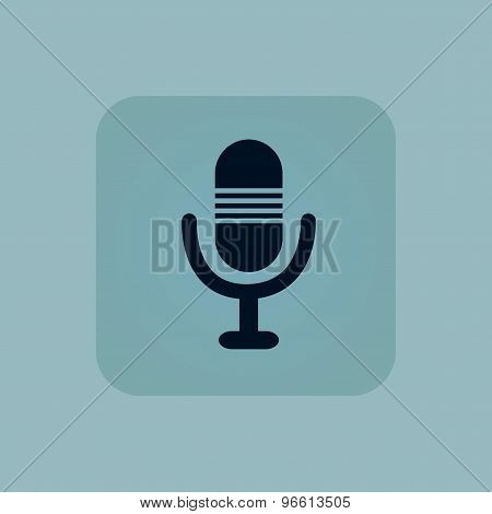 Pale blue microphone icon