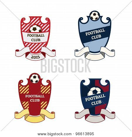 Football soccer crests