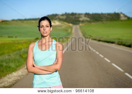 Sporty Woman Portrait