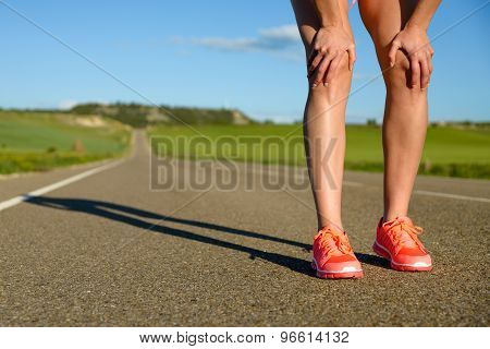 Woman Ready For Running On Road