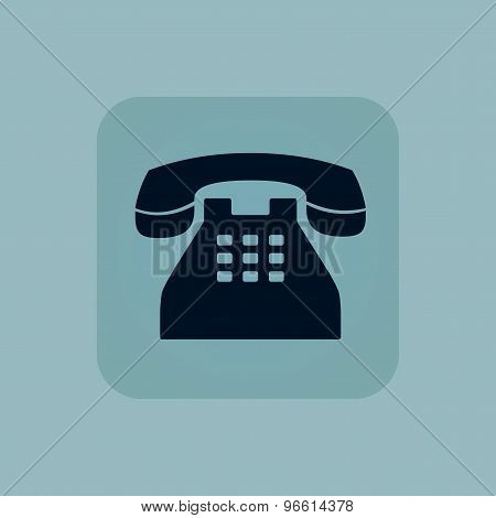 Pale blue phone icon
