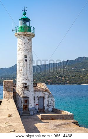 White Lighthouse, Propriano, Corsica, France