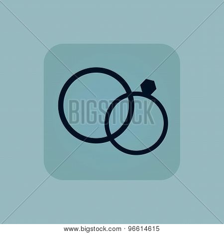Pale blue wedding rings icon