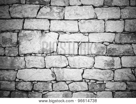 Old White Stone Wall, Detailed Background