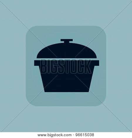 Pale blue pot icon