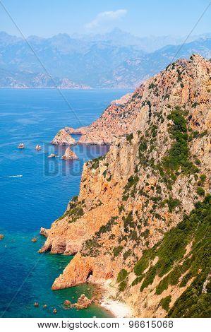 Corsica Island. Coastal Landscape, Piana