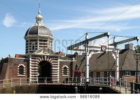 Historic Draw Bridge and Gate at Leiden