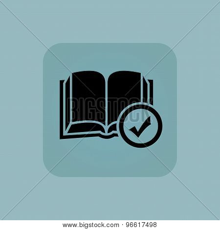 Pale blue select book icon