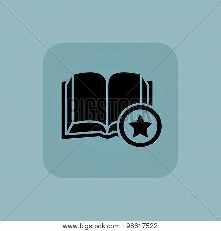 Pale blue favorite book icon