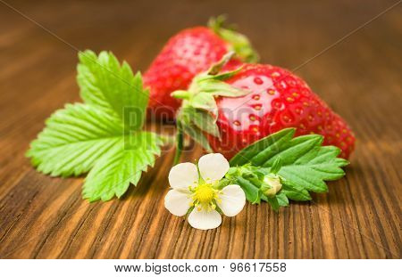 Ripe Strawberry By Close-up