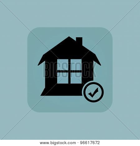 Pale blue select house icon