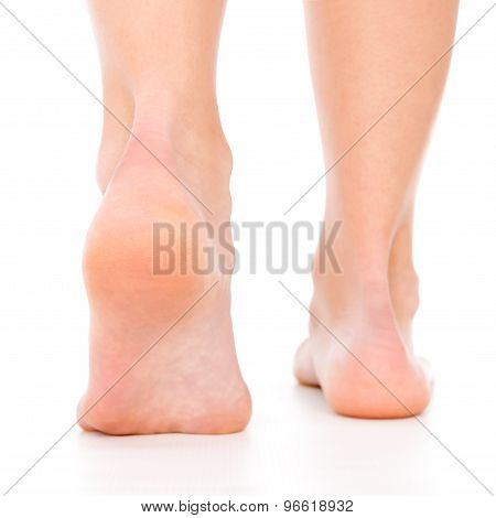 Women Foot Stepp From Behind