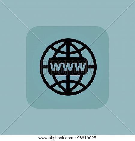 Pale blue global network icon
