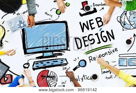 Content Creativity Digital Graphic Layout Web Design Concept