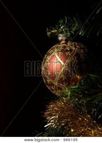 Sunlit Christmas Bulb - Portrait