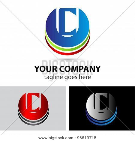 Abstract icons letter C logo