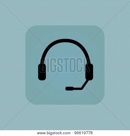 Pale blue headset icon