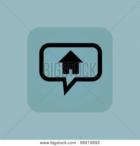 Pale blue home message icon